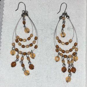 Buckle jewelry amber cream beaded chandelier earrings poshmark buckle jewelry amber cream beaded chandelier earrings aloadofball Image collections